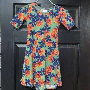 Girls Lularoe Adeline Dress size 6. Like new